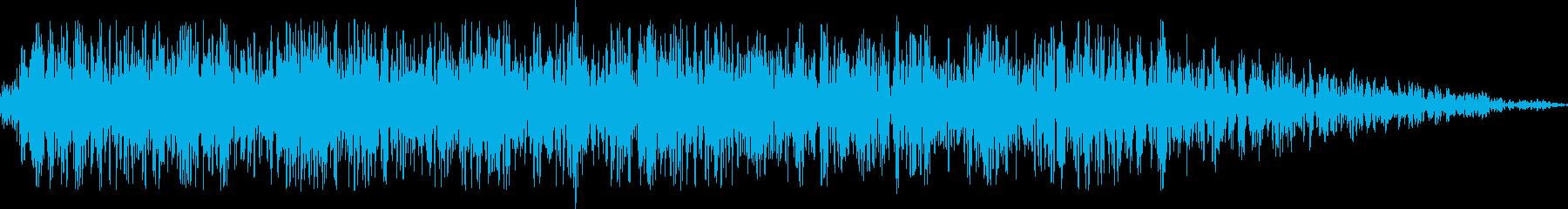 激しい水流(水中)の再生済みの波形