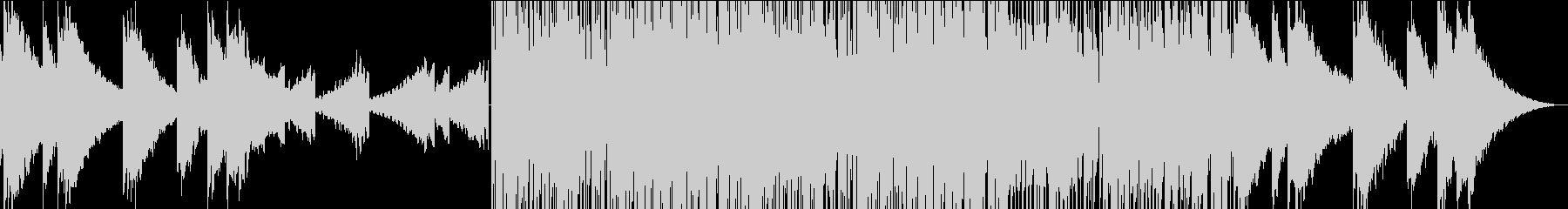 エキゾチックなゆったりBGMの未再生の波形