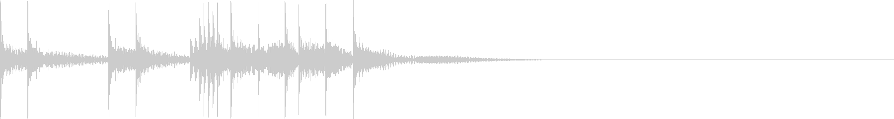 マーチング・ドラムロール/パーツ/D-1の未再生の波形