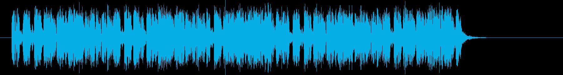 リズミカルで軽快なビートテクノジングルの再生済みの波形