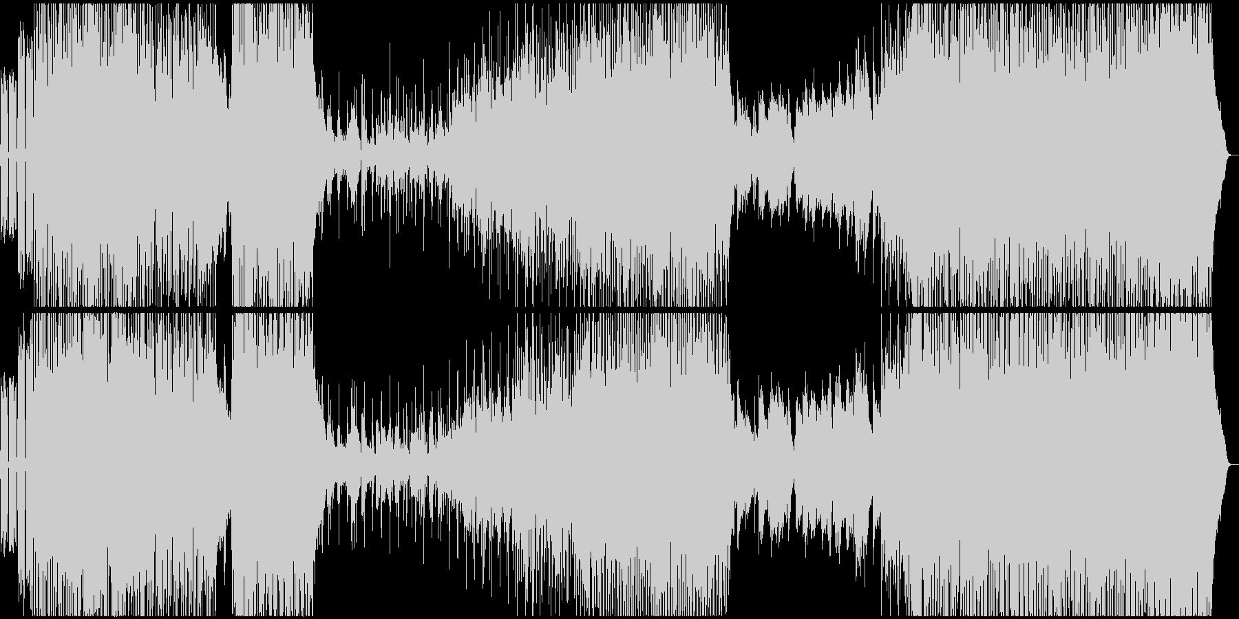 疾走感あふれるピアノロックの未再生の波形