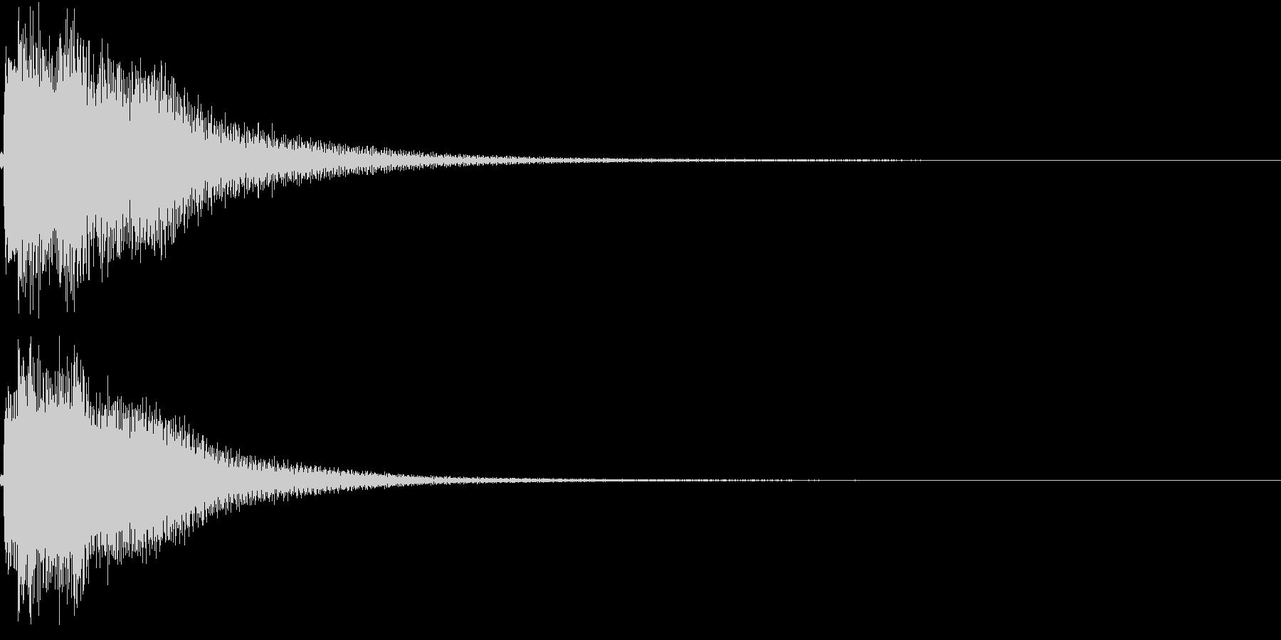 和風 箏(琴)上がっていく音1の未再生の波形