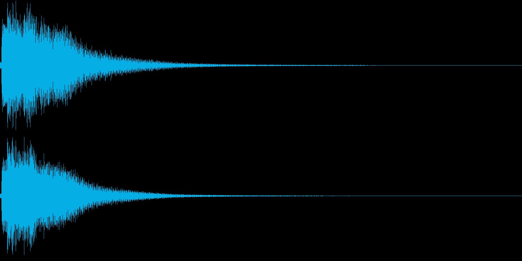 和風 箏(琴)上がっていく音1の再生済みの波形