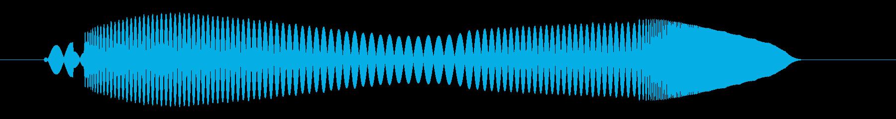 プ〜ンワ(落着いたボタンプッシュ音)の再生済みの波形