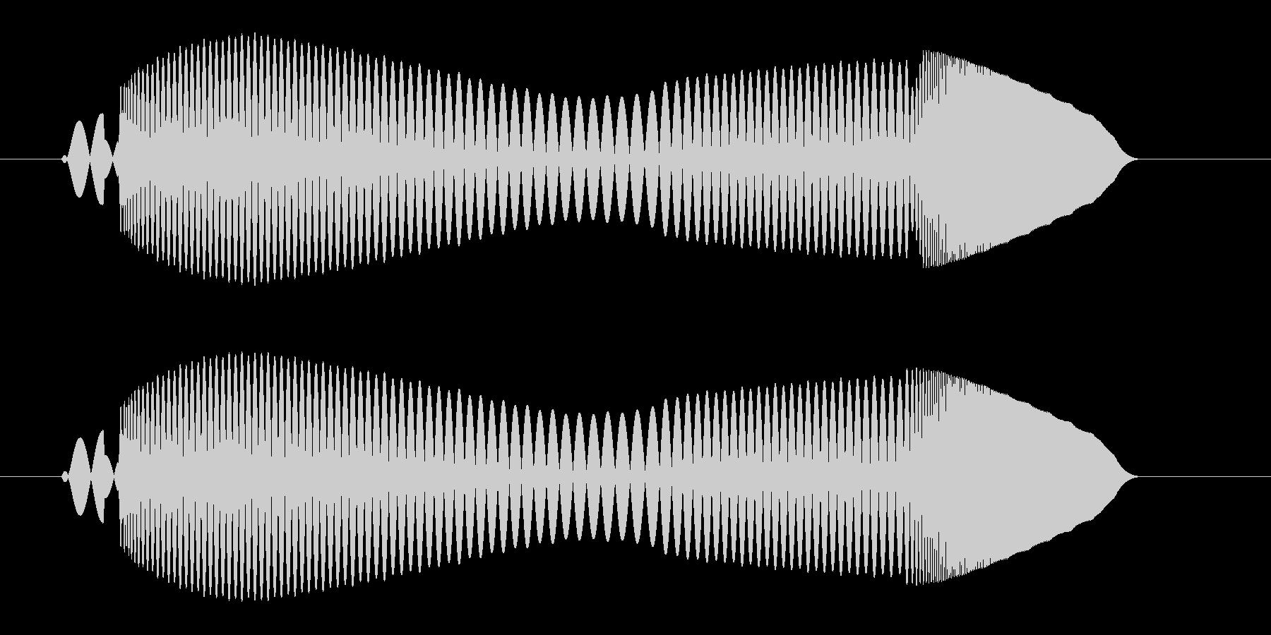 プ〜ンワ(落着いたボタンプッシュ音)の未再生の波形