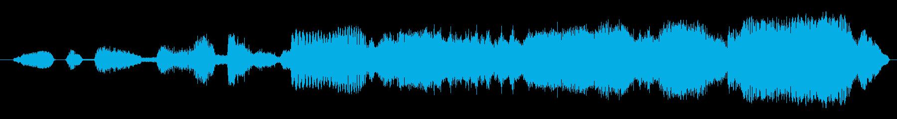 ゾンビ、大群:近づいてくるゾンビの大群の再生済みの波形