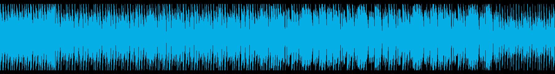 コミカルなキャラと交える軽快な戦闘BGMの再生済みの波形