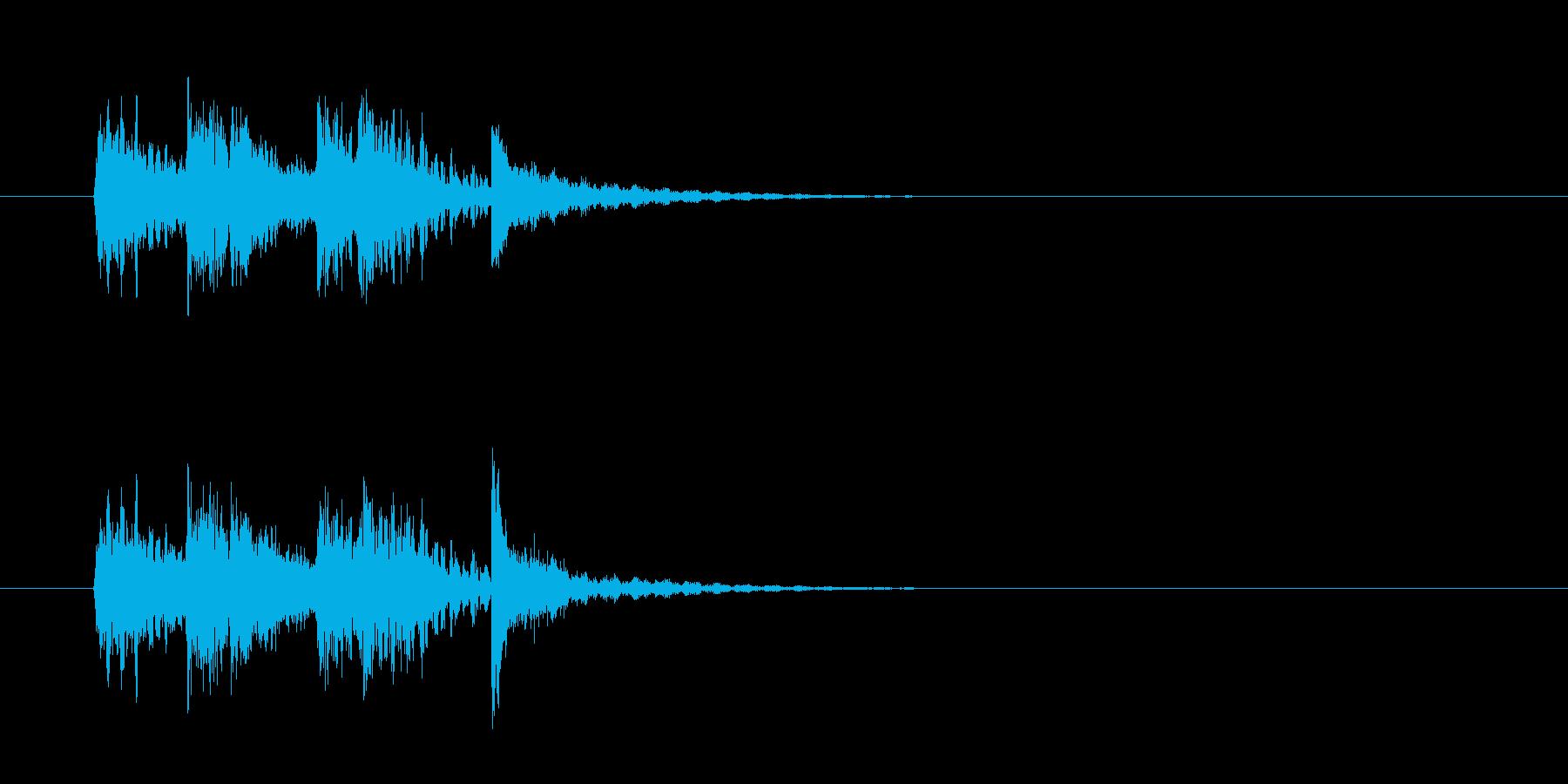 ジングル(おはやし風)の再生済みの波形