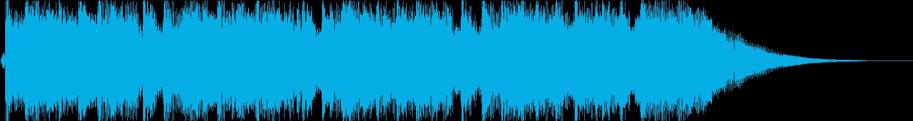 うきうきルンルンほのぼの楽しいジングルの再生済みの波形