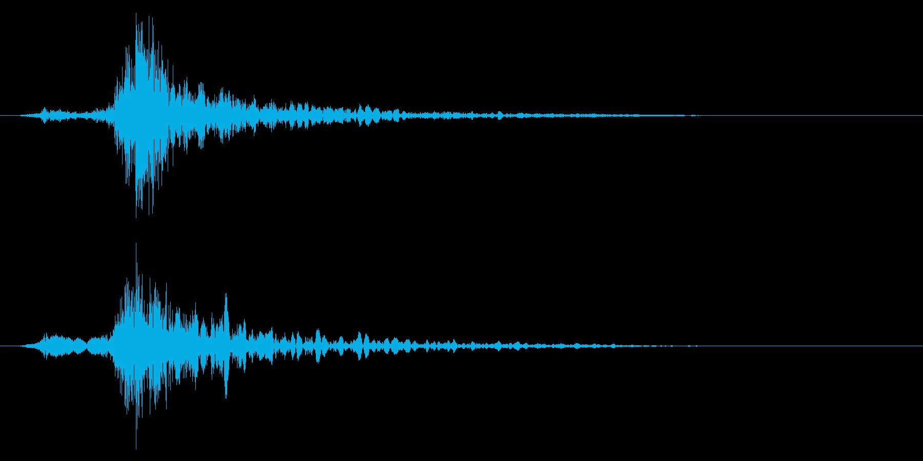 ドン!(重たい物を置いたり落とす音)の再生済みの波形