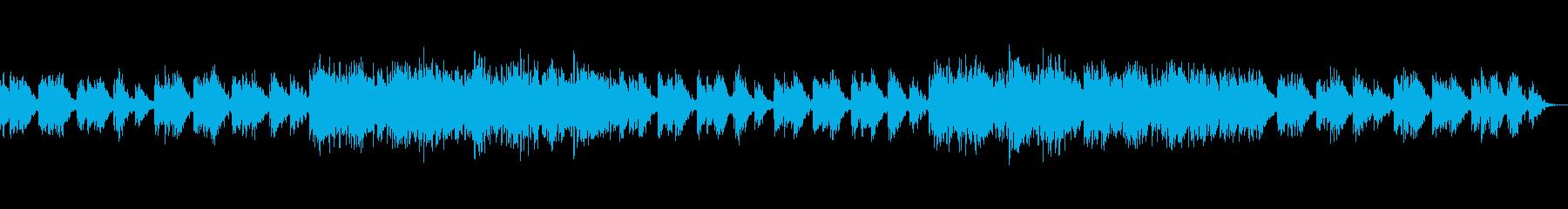 森をイメージしたアンビエントBGMの再生済みの波形