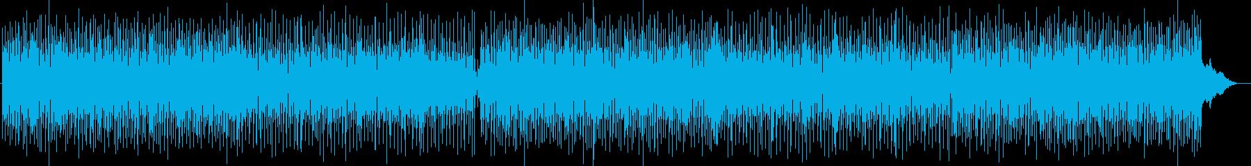 明るいポップな弾みのあるシンセサイザー曲の再生済みの波形