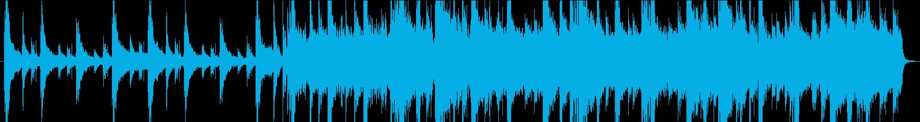 荘厳な雰囲気の曲の再生済みの波形
