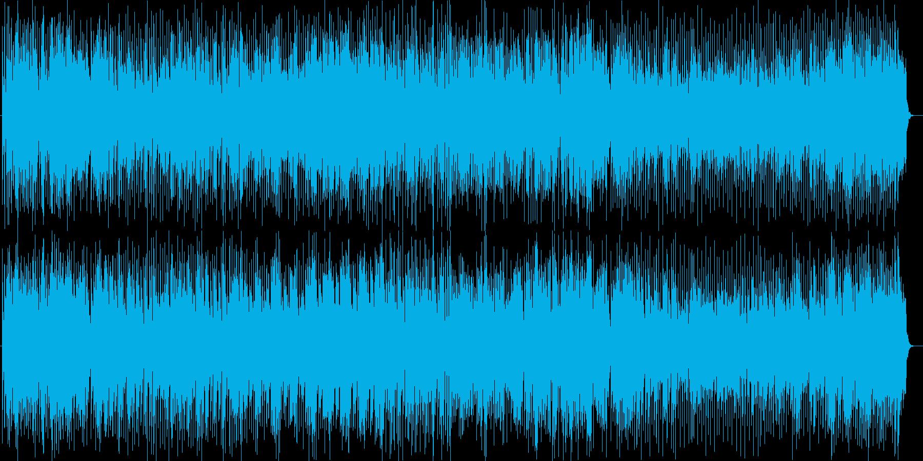 爽やかなシンセ・ピアノなどの曲の再生済みの波形