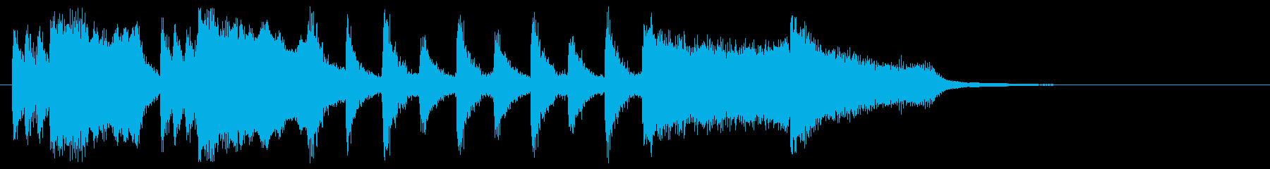明るく陽気なファンファーレの再生済みの波形