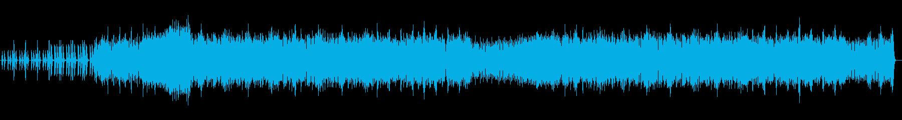 メカアクションゲームのメニュー画面の再生済みの波形
