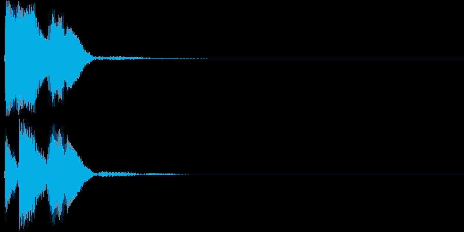 ピロリン(エラー・キャンセル)の再生済みの波形