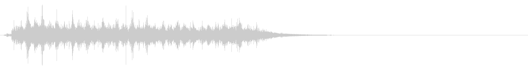 タブレッド菓子出す音・振る音14リバーブの未再生の波形