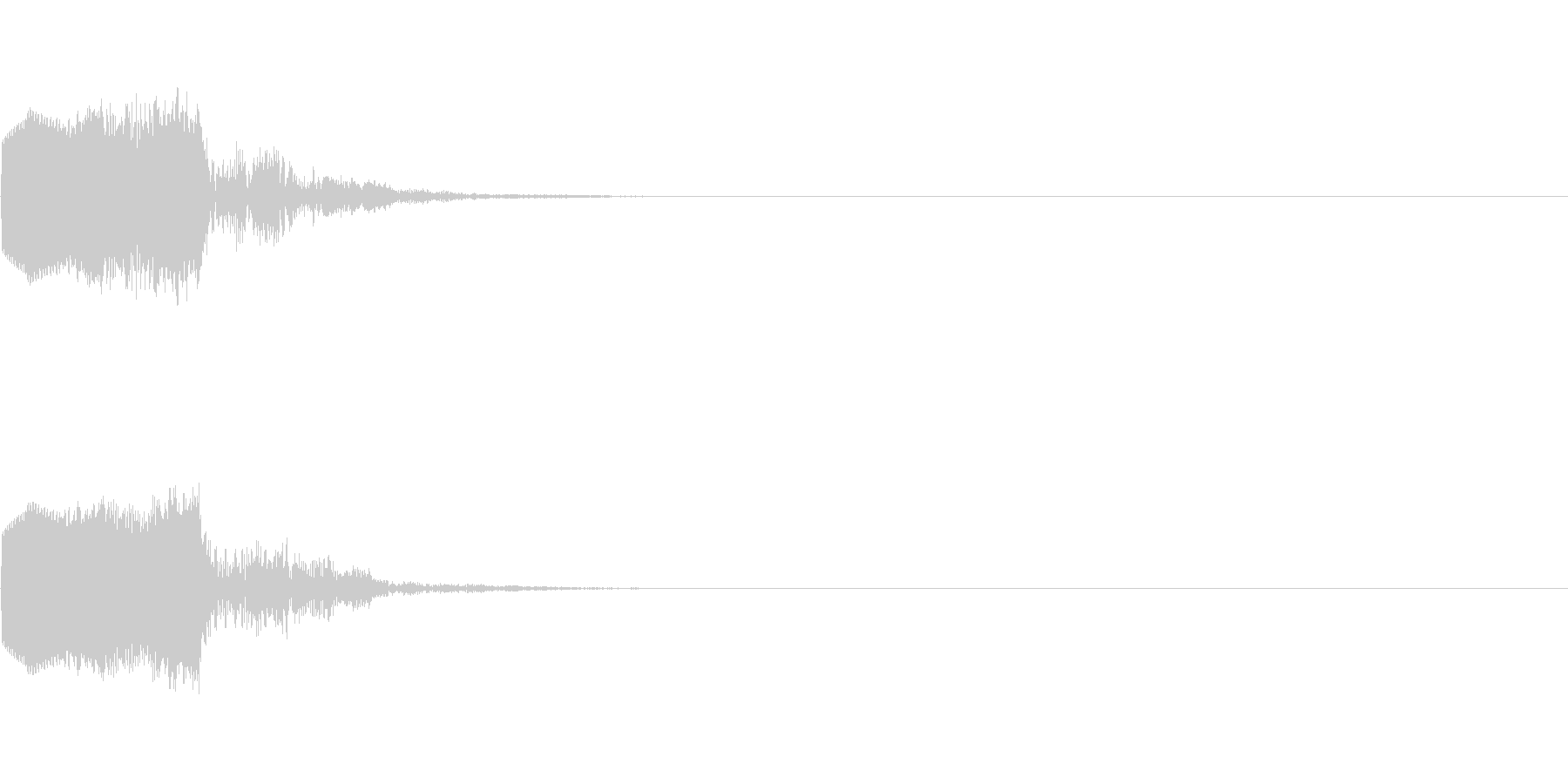 ピコッ(ゲーム・アプリ等のセレクト音)の未再生の波形