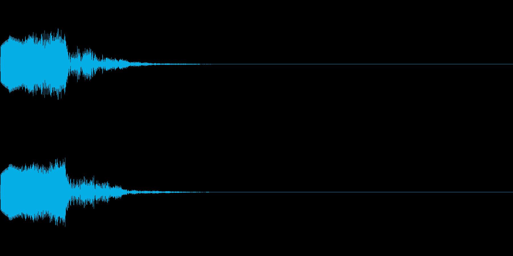 ピコッ(ゲーム・アプリ等のセレクト音)の再生済みの波形