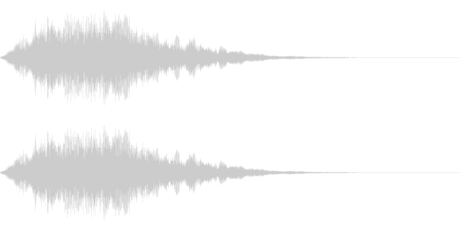 決定のイメージのシステム効果音です。緊…の未再生の波形