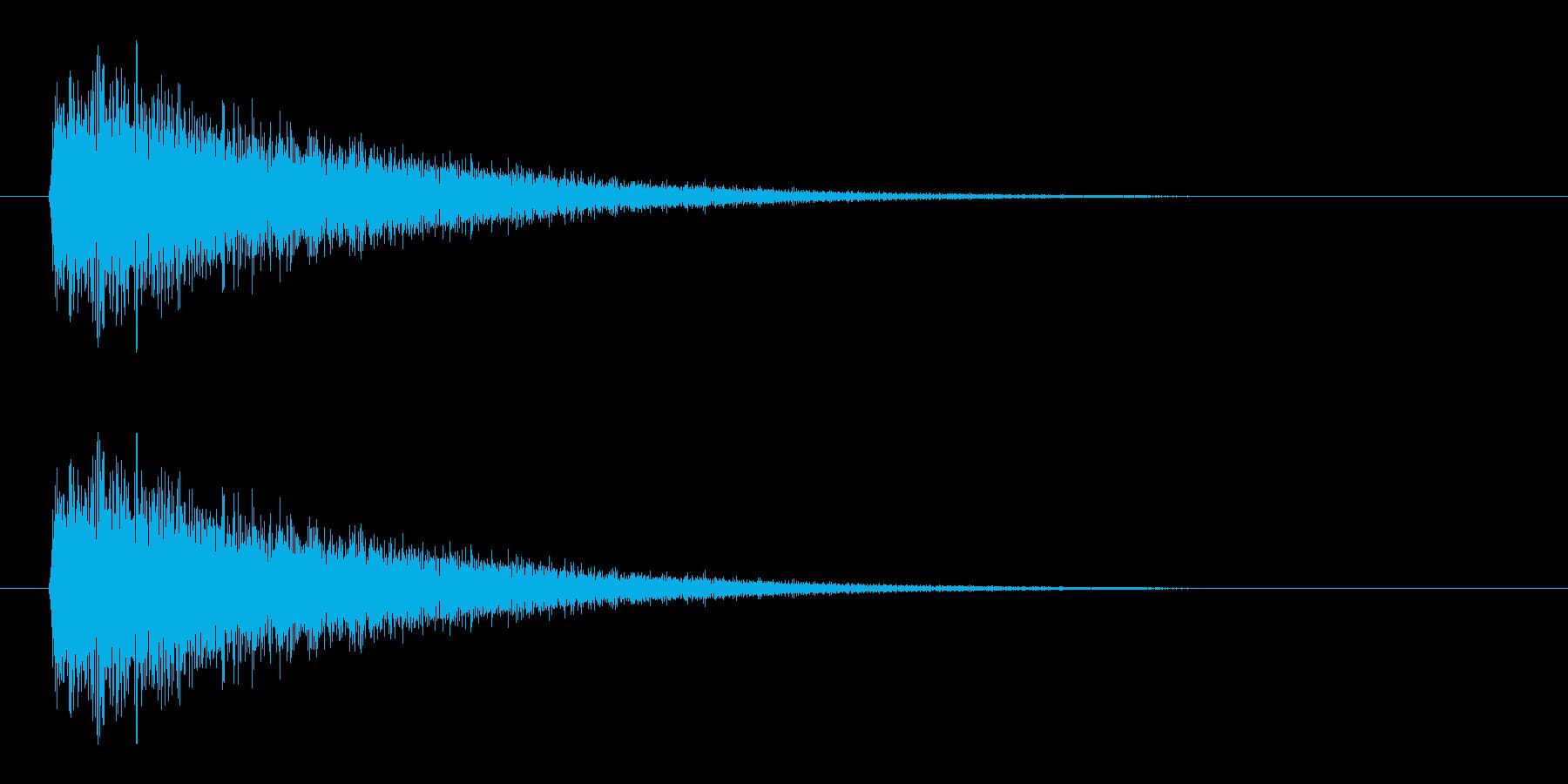 レーザー音-10-3の再生済みの波形
