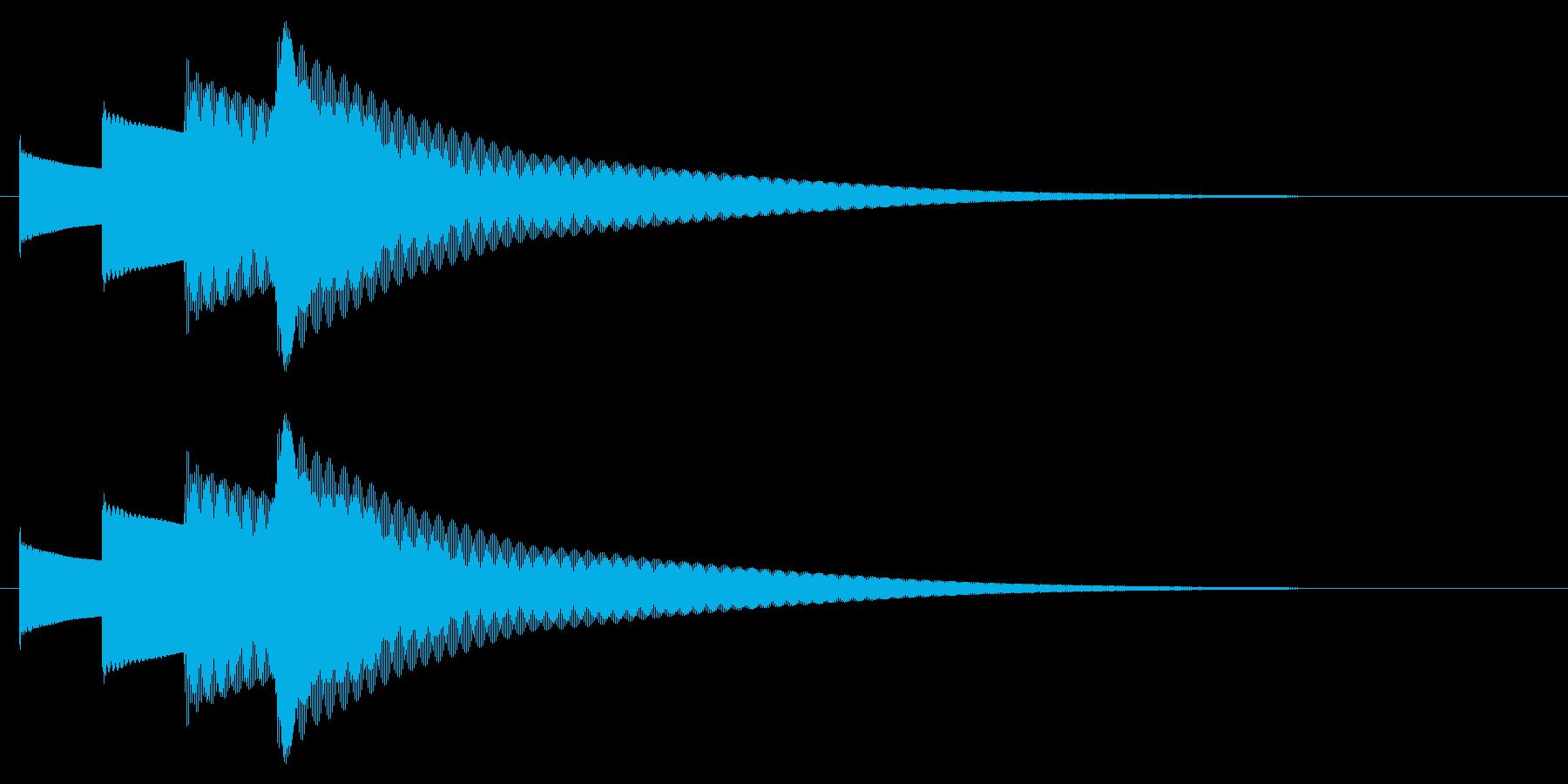 チャイム アナウンス09-4(4点 速いの再生済みの波形