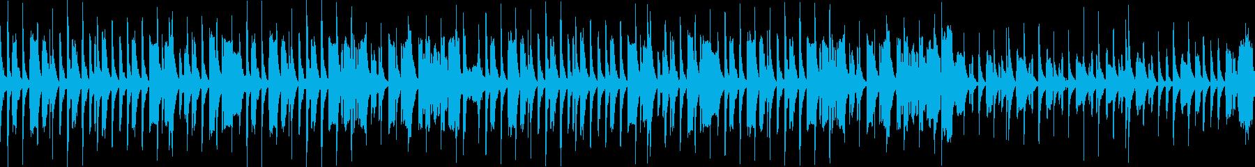ほのぼのかわいい、のんびりした曲/ループの再生済みの波形