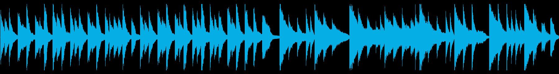 動物と赤ちゃんの散歩・ピアノ曲の再生済みの波形