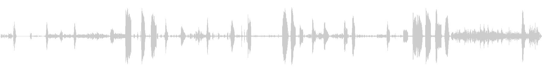 子猫のゴロゴロと鳴くの未再生の波形