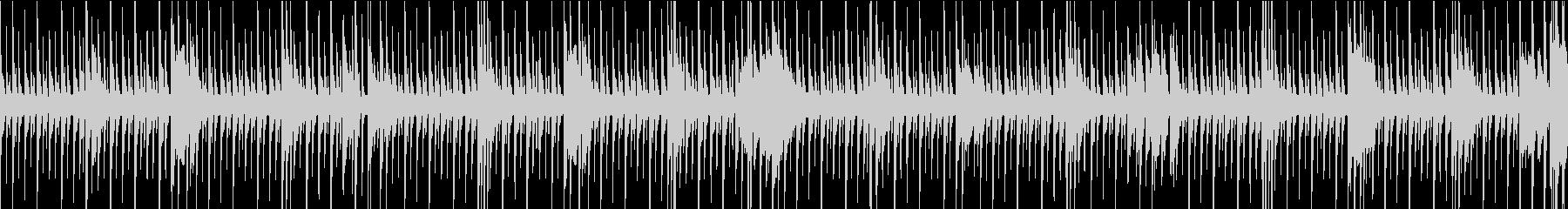[ループ]リズミカルなパーカッションの未再生の波形