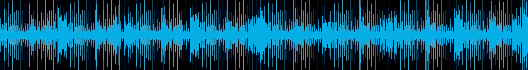 [ループ]リズミカルなパーカッションの再生済みの波形