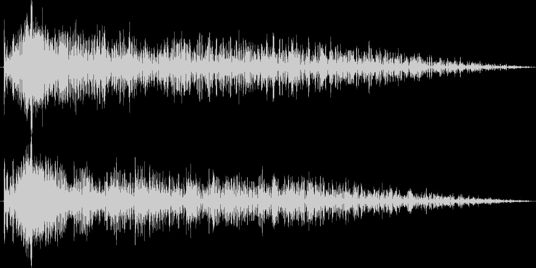 衝撃シーンのワンショットホラー効果音の未再生の波形