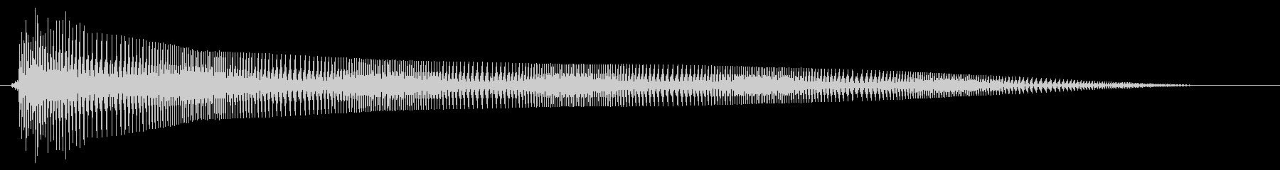 ビヨヨヨョ〜ン(伸縮するコミカルな音)の未再生の波形