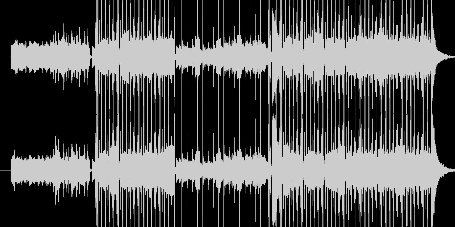 ディストーションギターのリフと、クリス…の未再生の波形