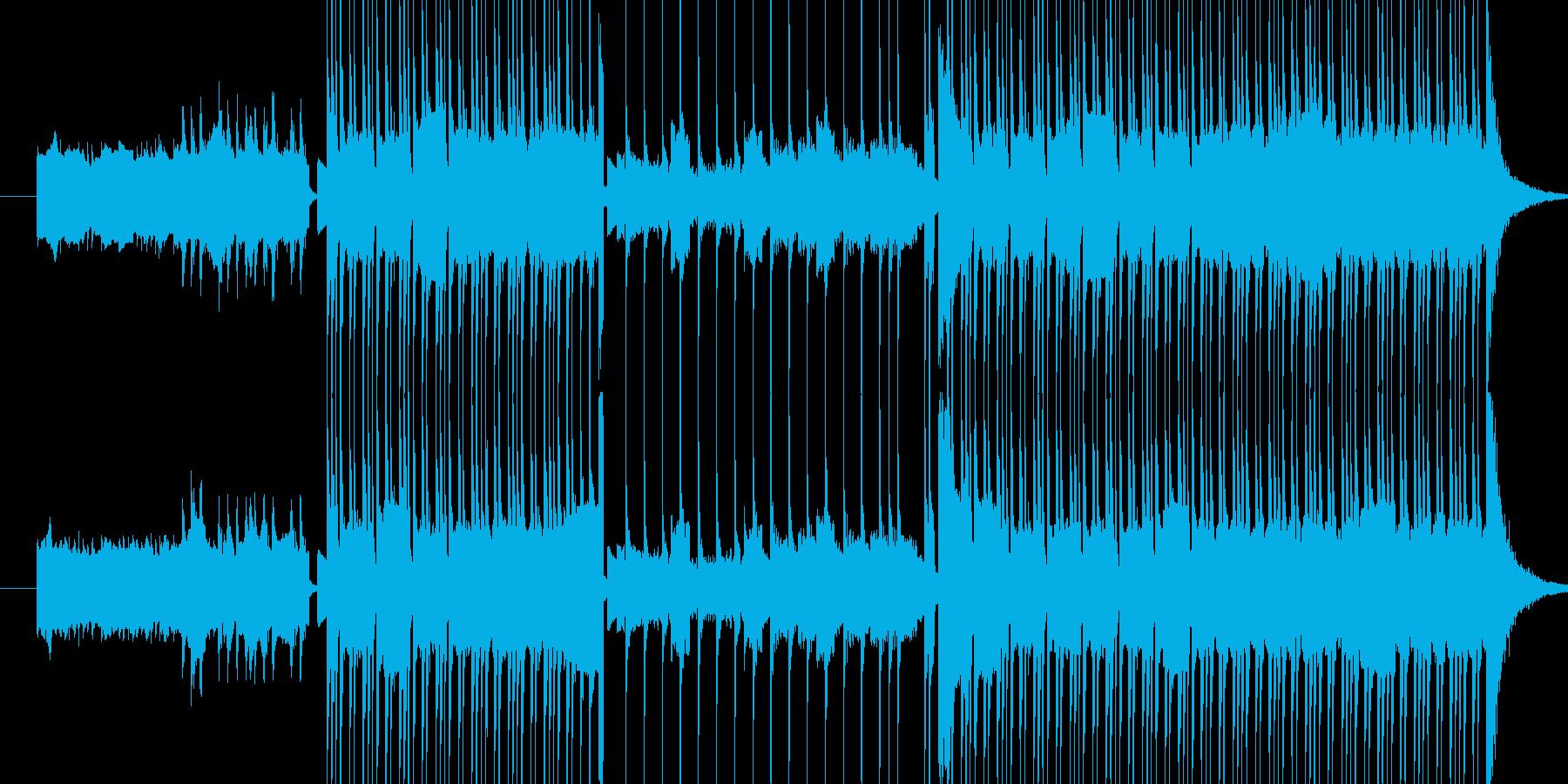 ディストーションギターのリフと、クリス…の再生済みの波形
