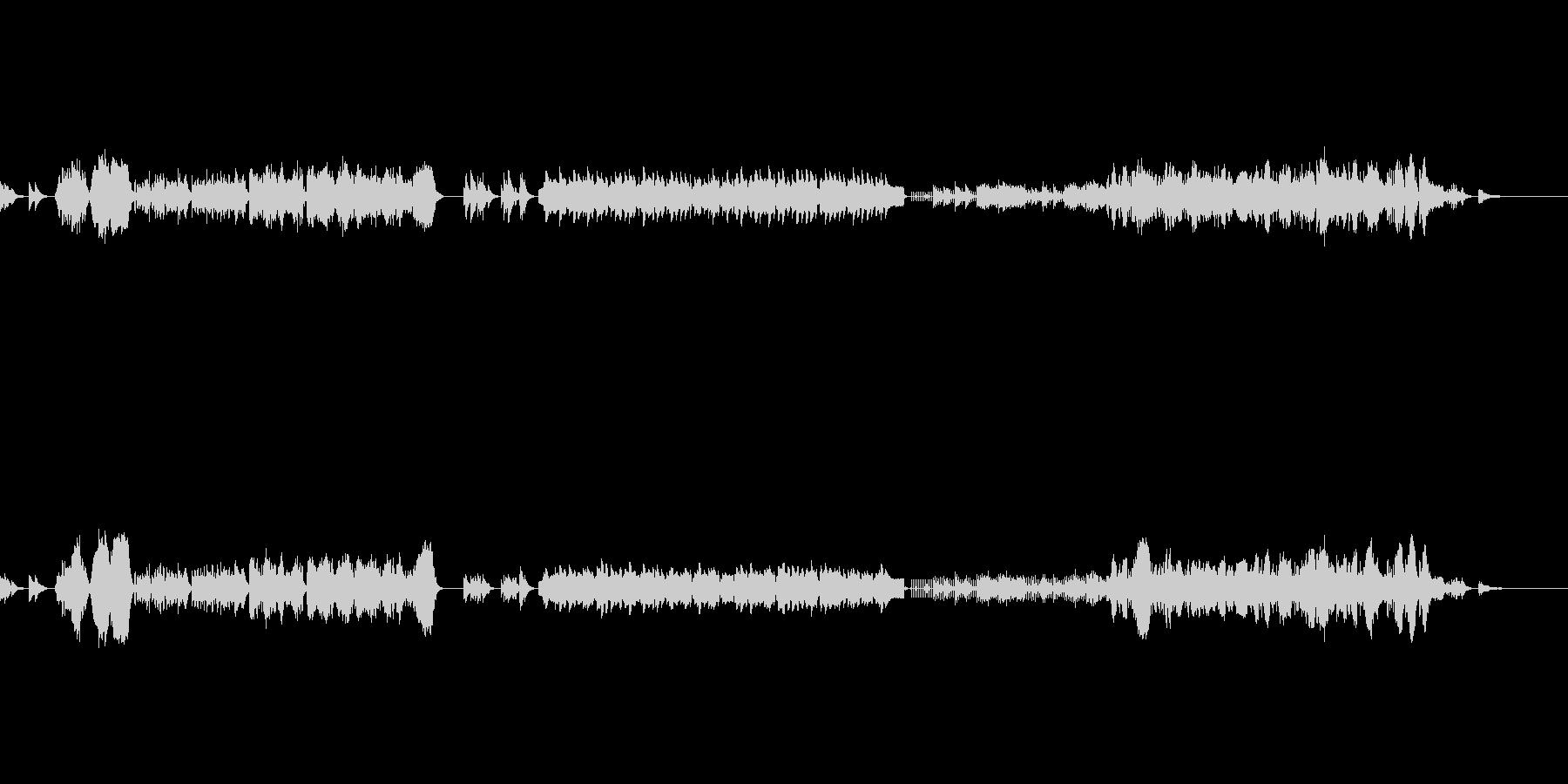 弦とピアノ(チェレスタ)のアンサンブルの未再生の波形