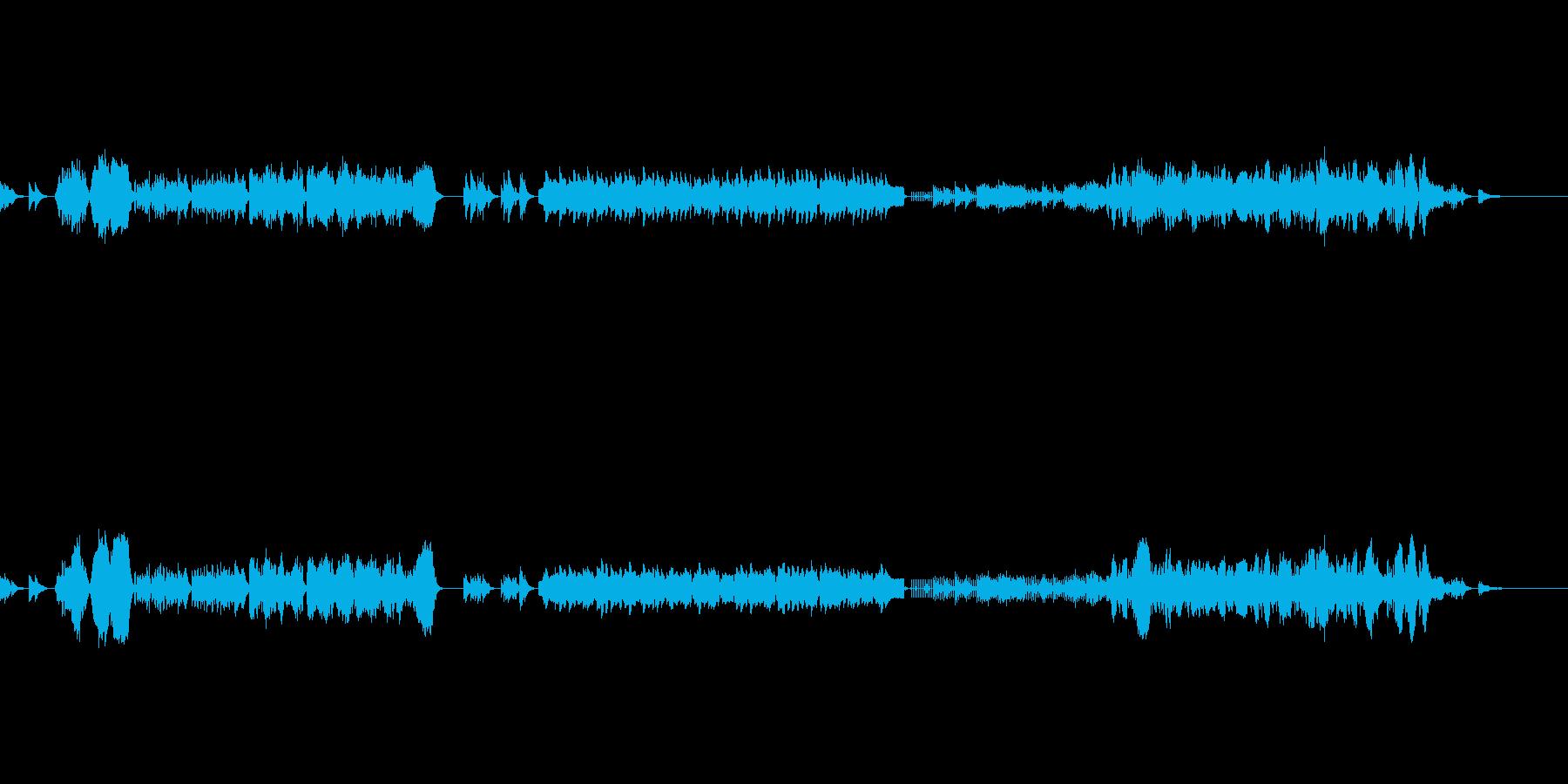 弦とピアノ(チェレスタ)のアンサンブルの再生済みの波形