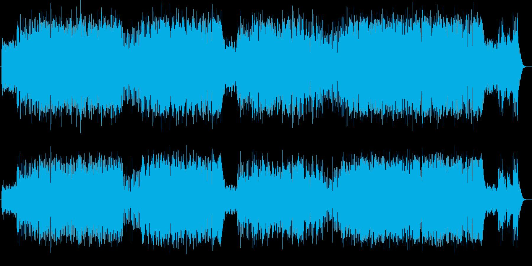 疾走感と爽やかなシンセサイザーサウンドの再生済みの波形