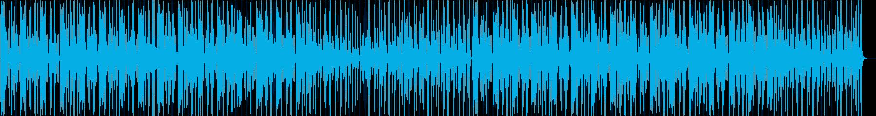 裏路地のような雰囲気のテクノの再生済みの波形
