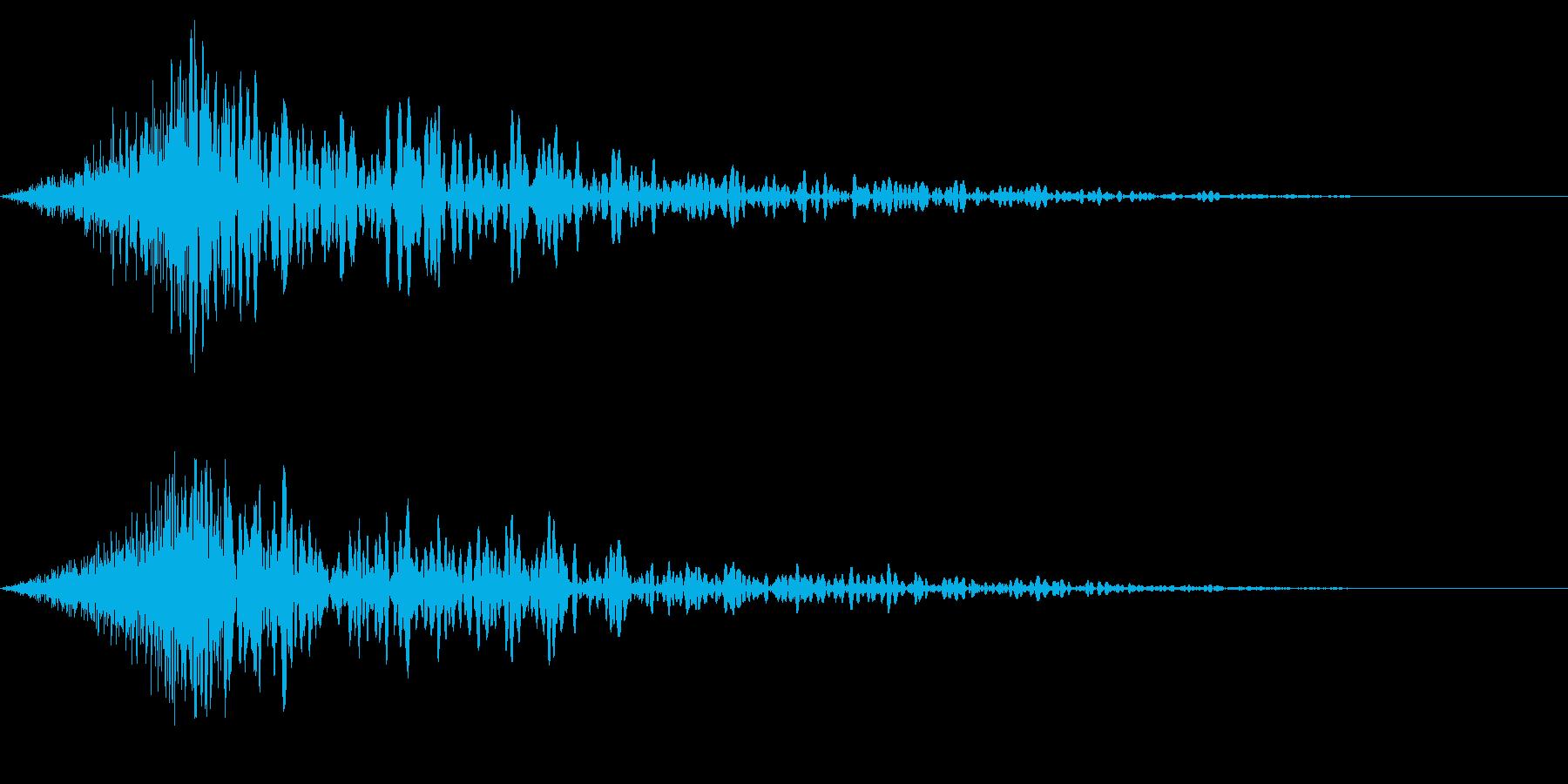 ホラー系アタック音138の再生済みの波形