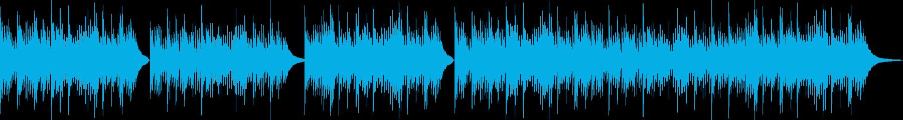 幻想的で不安な感じのピアノの再生済みの波形