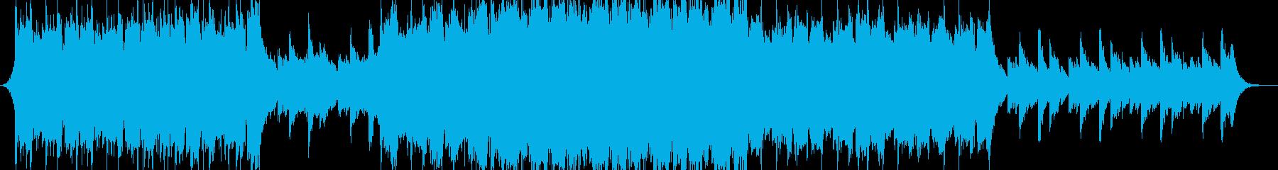 ピアノとストリングスなシネマティックの再生済みの波形