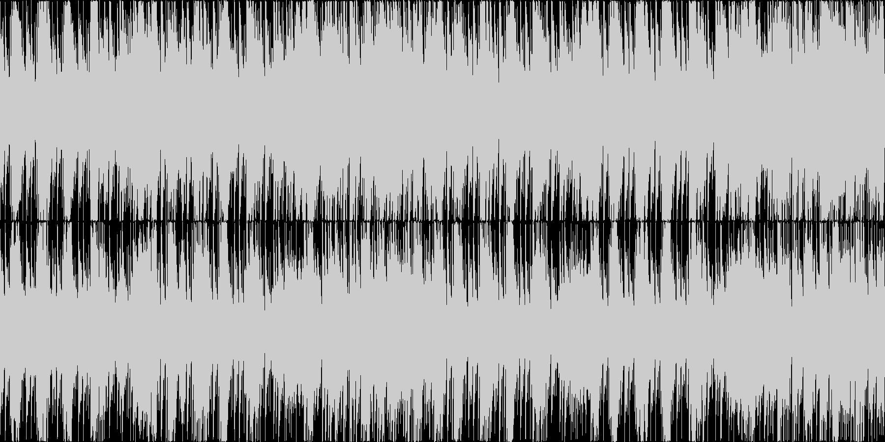 お洒落なピアノハウス楽曲。ゲーム等にの未再生の波形