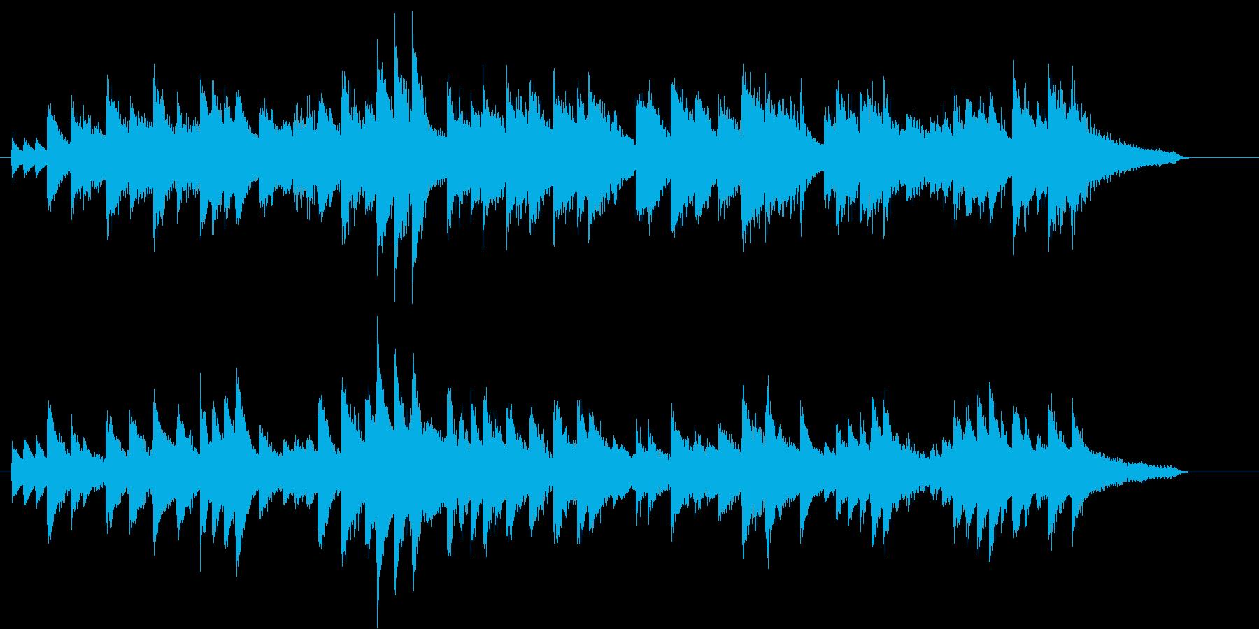 涼しげで軽やかなボサノバ調ピアノジングルの再生済みの波形