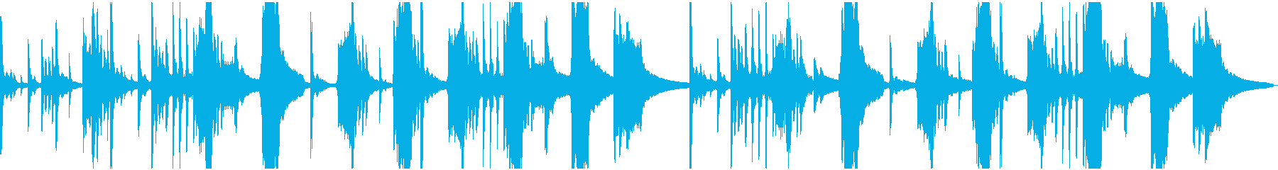 コミカルで軽快な不思議系BGMの再生済みの波形