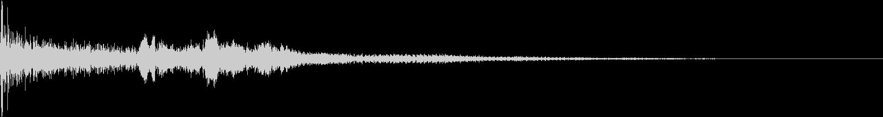 劇的なヒットロゴの未再生の波形