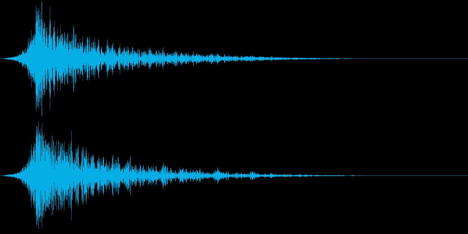 シュードーン-37-1(インパクト音)の再生済みの波形
