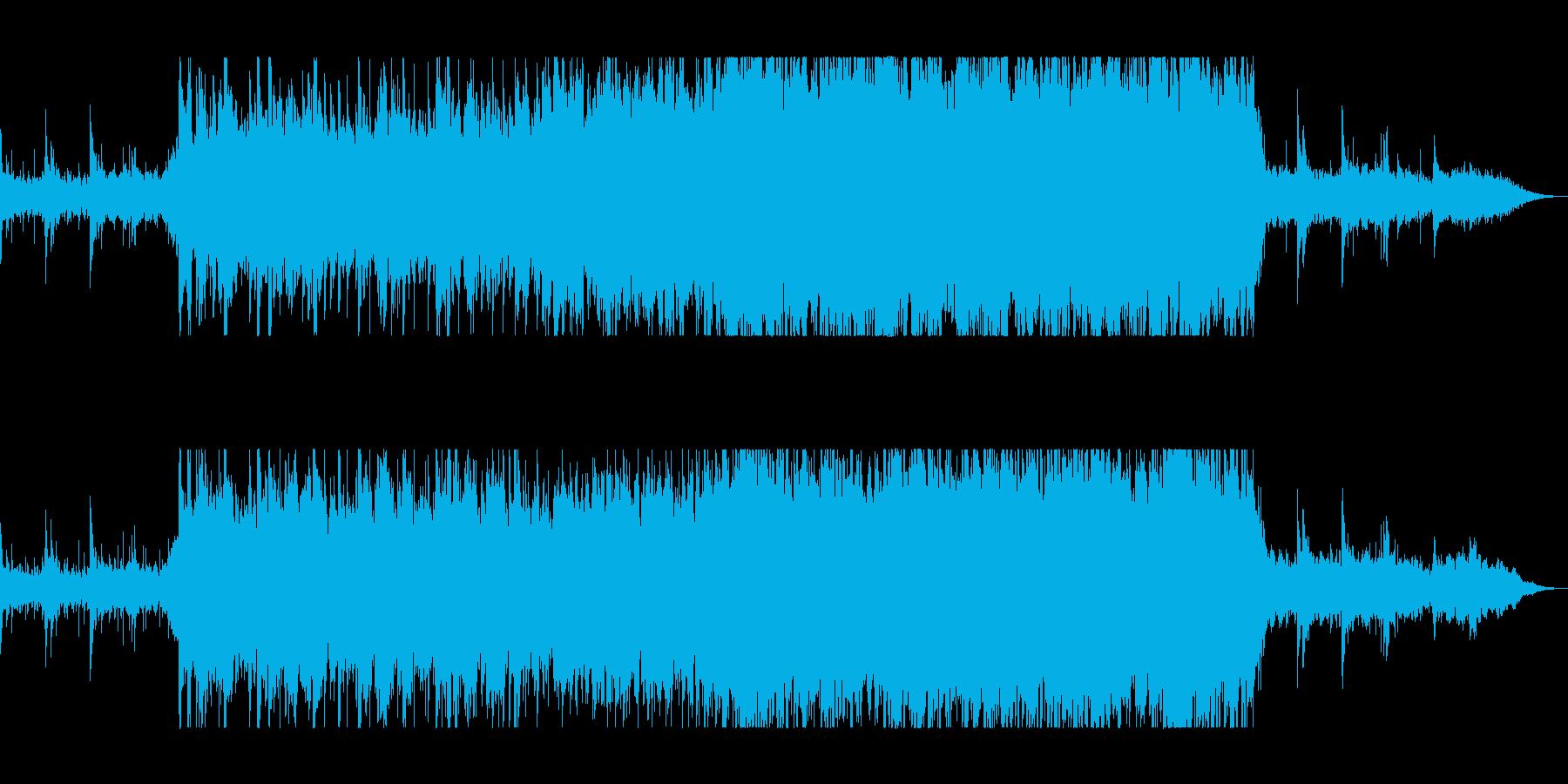 ピアノが感動的なオーケストラの再生済みの波形