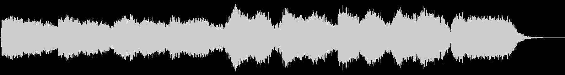 笛の響きが印象的な楽曲の未再生の波形